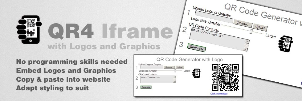 Iframe QR Code Generator with Logo